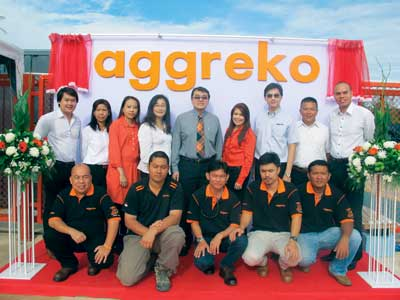 Staff from the new Aggreko depot in Thailand at the opening ceremony.