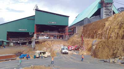 The upgraded and modernized processing facilities at Carmen Copper's Toledo mine.