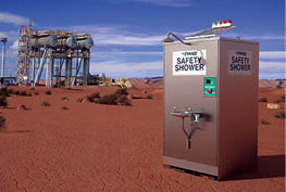 CAPTION: Enware Australia will supply safety showers to a bauxite project in Saudi Arabia.