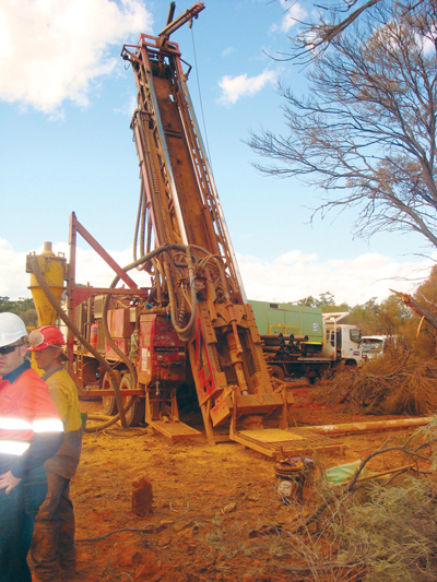 Drilling at the Macarthur Iron Ore Projects in the Yilgarn region of Western Australia.
