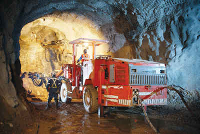Underground drilling at the White Mountain project in Jilin province.