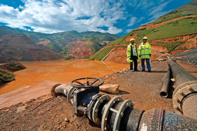 A recent study claims that about 70% of the mining operations of the five largest hard-rock mining companies are located in countries where water stress is considered a risk. (Photo courtesy of Polypipe)