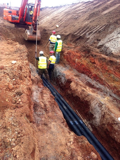 Polypipe says its Ridgidrain HDPE pipe is well suited for underground, non-pressurized drainage applications commonly required at mines.