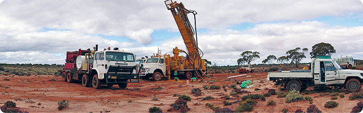 Drilling at the Acra Gold Project of Pioneer Resources near Kalgoorlie in Western Australia.