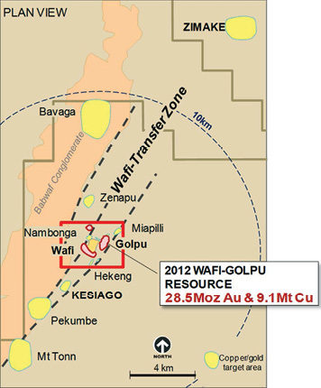 The Wafi-Golpu joint venture between Newcrest Mining and Harmony Gold hosts one of the highest grade porphyry copper systems in South East Asia.