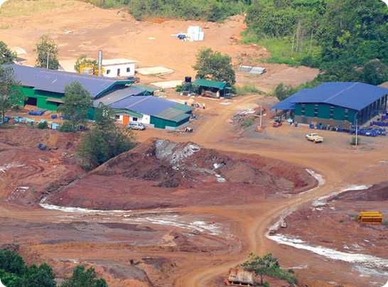 New buildings at the Mengapur project, including laboratories, and core logging and storage facilities.
