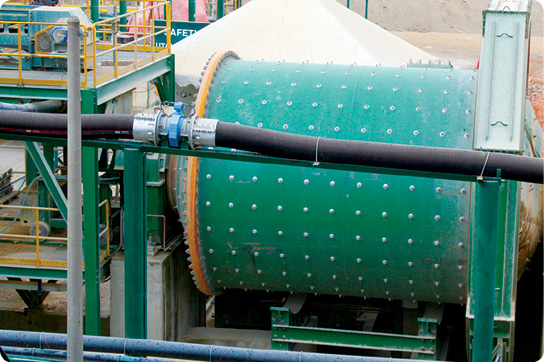 The ball mill at the Selinsing processing facilities.