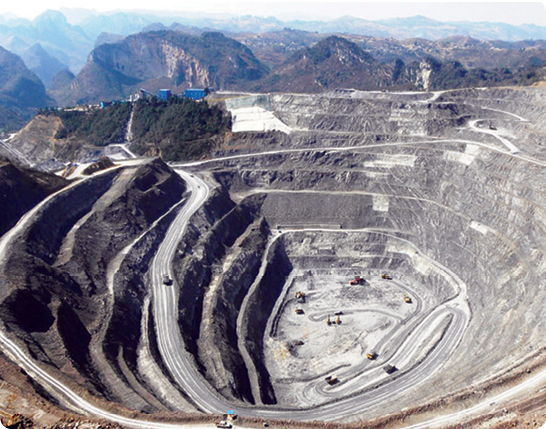 The open pit at Eldorado Gold's Jinfeng project in Guizhou province.