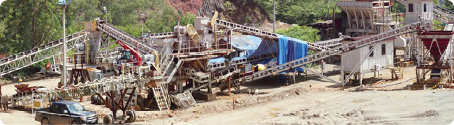 The crushing plant at Wetar awaiting commencement of stacking operations.