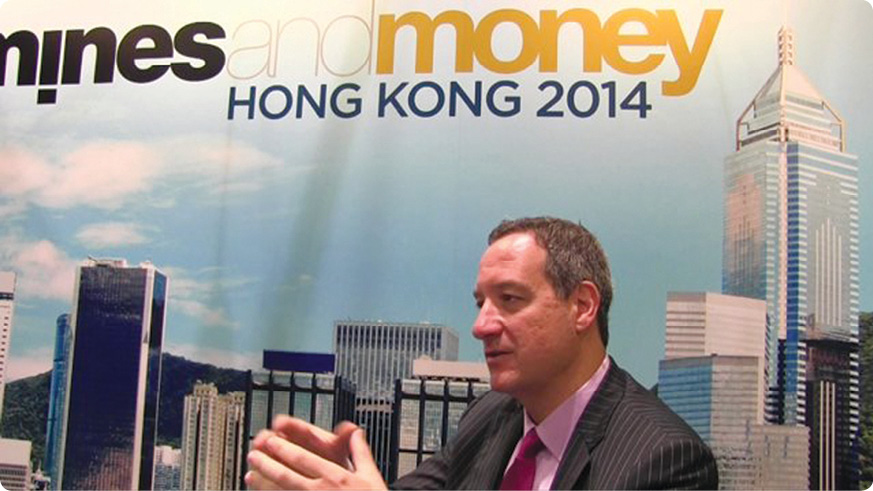Bloomberg's Ken Hoffman addresses the Mines and Money Hong Kong conference.