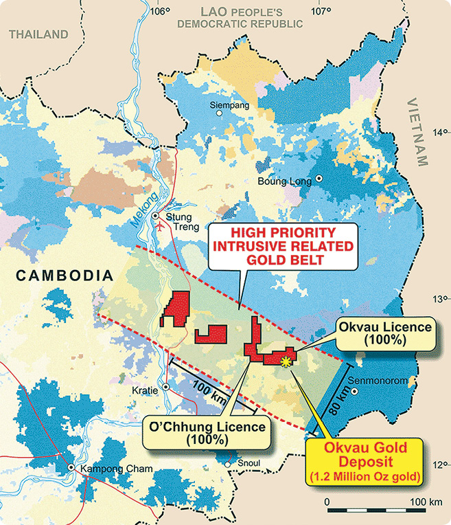 The Okvau project is in a remote area of eastern Cambodia.