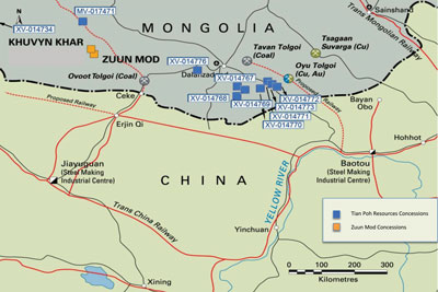 The company has secured an option to acquire 51% of the promising Zuun Mod copper-molybdenum project and is undertaking due diligence.