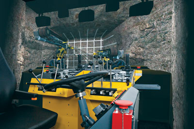 A ThoroughTec Atlas Copco 282 drill rig simulator.