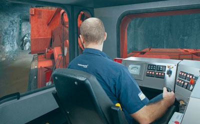 A ThoroughTec Sandvik LH517 LHD simulator, such as that used at Hindustan Zinc's Rampura Agucha mine.
