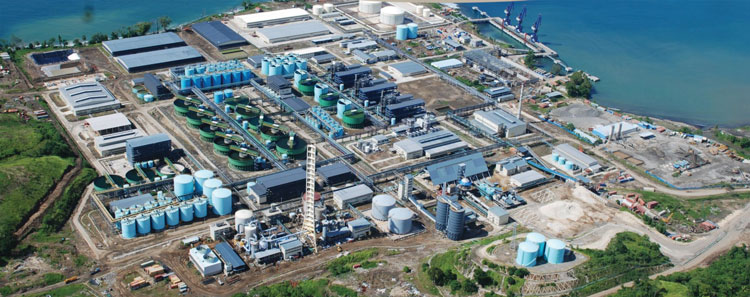 The Basamuk Bay processing facilities for the Ramu Nickel-Cobalt Project on Papua New Guinea's north coast.