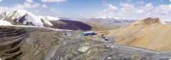 The Kumtor Gold Project is in mountainous terrain in the Kyrgyz Republic.