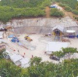 Surface infrastructure at Kingsrose Mining's Talang Santo mine in southern Sumatra.